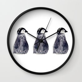 baby pinguin - bebe manchot - nord - north - banquise - arctique - pingouin Wall Clock