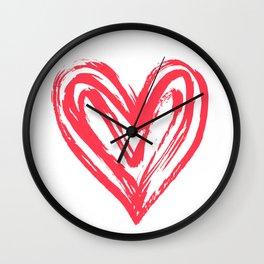 Hand drawn doodle heart Wall Clock