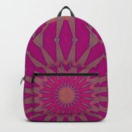 Magenta Pinwheel Flowers Backpack