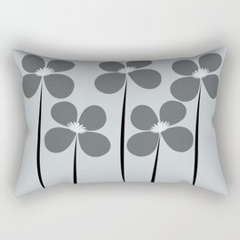 Abstract Night Flowers Rectangular Pillow