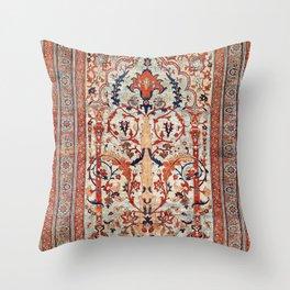 Tabriz Azerbaijan Northwest Persian Silk Rug Print Throw Pillow