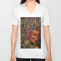 medusa V-neck T-shirts featuring Medusa.... by shiva camille
