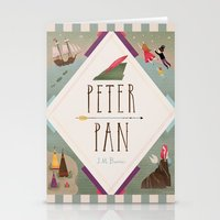 peter pan Stationery Cards featuring Peter Pan by emilydove