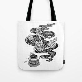 Cosmos Space Music Tote Bag
