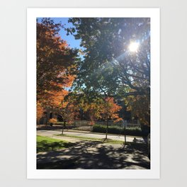 A Fall Day Somewhere in Ohio Art Print