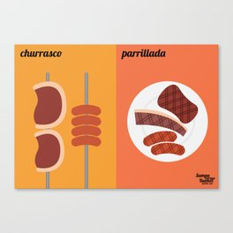 Churrasco x Parrillada Canvas Print