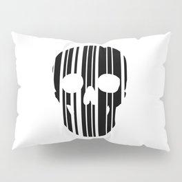 Barcode Skull Pillow Sham