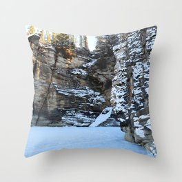 Lower Athabasca Falls, Canada Throw Pillow