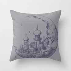 Arabian Crescent Throw Pillow