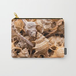 Seashells collection background Carry-All Pouch