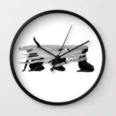 Face the wind Wall Clock