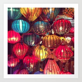 Chinese Lanterns in Vietnam Art Print