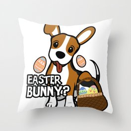 Beagle Easter Funny for Boys Girls Love Dog Puppy Throw Pillow