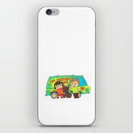 Sleuth Couple and Dog iPhone Skin