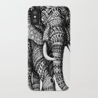 bioworkz iPhone & iPod Cases featuring Ornate Elephant v.2 by BIOWORKZ