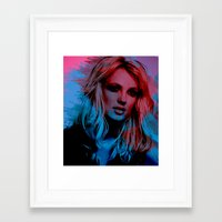 britney spears Framed Art Prints featuring Britney Spears by Nic Moore
