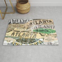 Atlanta map Rug