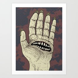Hungry Hand Art Print