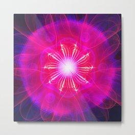 The Enlightening Rose Ship Metal Print