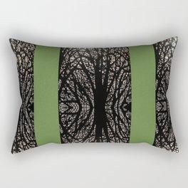 Gothic tree striped pattern green Rectangular Pillow