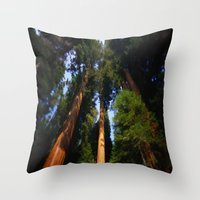 giants Throw Pillows featuring Giants by Robin Curtiss