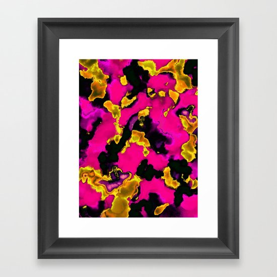 Acid Wash Framed Art Print