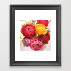 (Ranunculus) Flowers - For You! Framed Art Print