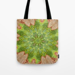Leaf Hexagram Star Abstract Tote Bag
