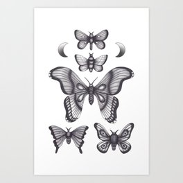 Mothes Art Print