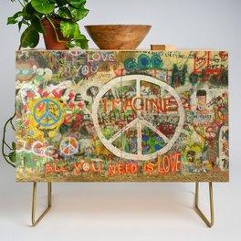 Peace Sign - Love - Graffiti Credenza