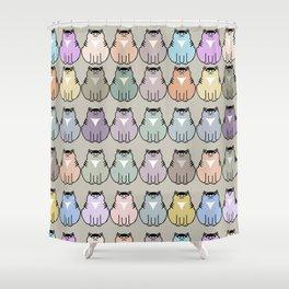 Fat cat pattern Shower Curtain