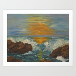Sunset Seascape Art Print