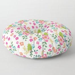Pink Fuchsia Spring Flower Pattern Floor Pillow