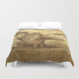Del, the lonely desert dragon Duvet Cover