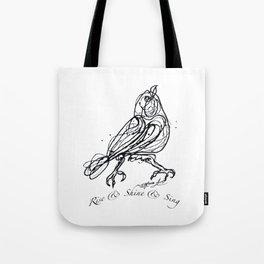 OLena Art Design Rise & Shine & Sing Tote Bag