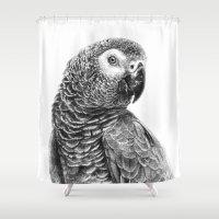 Gray Parot G083 Shower Curtain