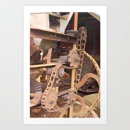Old Chain Mechanism Art Print