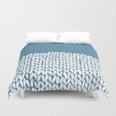 Half Knit Blue Duvet Cover