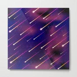 Meteor Shower Pattern 1 Metal Print