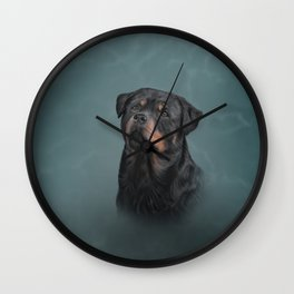 Drawing dog rottweiler 9 Wall Clock