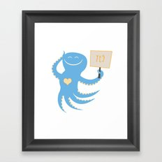 Squid of Yes Framed Art Print