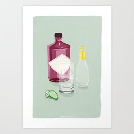 Gin & Tonic Art Print