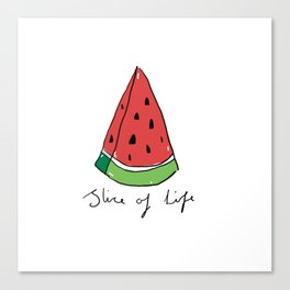 Watermelon - Slice of Life Canvas Print