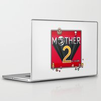 earthbound Laptop & iPad Skins featuring Alternative Mother 2 / Earthbound Title Screen by Studio Momo╰༼ ಠ益ಠ ༽