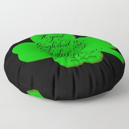 St. Patrick's Day Shamrock Irish Proverb Floor Pillow