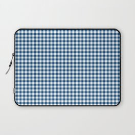 Classic Blue Gingham Check Laptop Sleeve