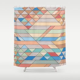 Triangle Pattern no.2 Colorful Shower Curtain