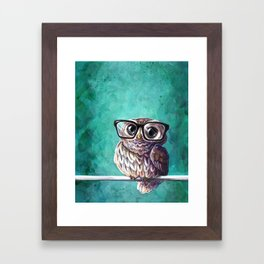 Intellectual Owl Framed Art Print