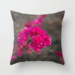 Bougie with the Bougainvillea Throw Pillow