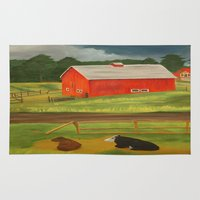 farm Area & Throw Rugs featuring Farm by ArtSchool